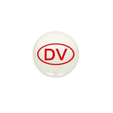 DV Oval (Red) Mini Button (100 pack)