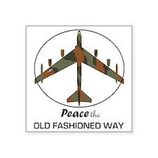 """B-52 Stratofortress Peace t Square Sticker 3"""" x 3"""""""