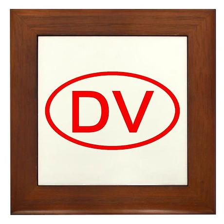 DV Oval (Red) Framed Tile