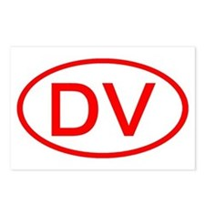 DV Oval (Red) Postcards (Package of 8)