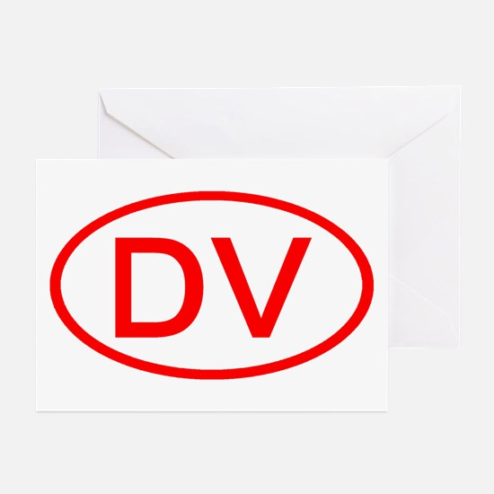 DV Oval (Red) Greeting Cards (Pk of 10)
