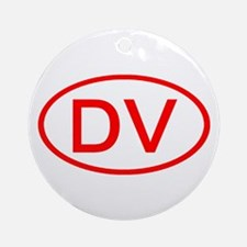DV Oval (Red) Ornament (Round)