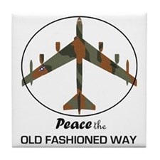 B-52 Stratofortress Peace the Old Fas Tile Coaster