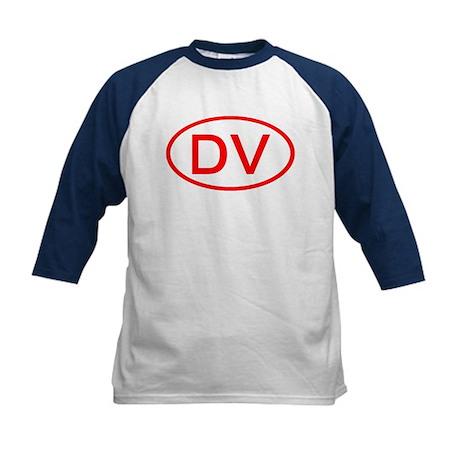 DV Oval (Red) Kids Baseball Jersey