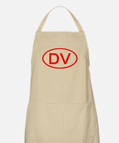 DV Oval (Red) BBQ Apron
