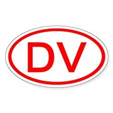 DV Oval (Red) Oval Decal