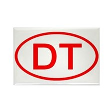 DT Oval (Red) Rectangle Magnet (10 pack)