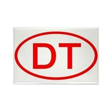 DT Oval (Red) Rectangle Magnet