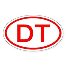 DT Oval (Red) Oval Decal