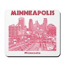 Minneaplis_12X12_Downtown_Red Mousepad
