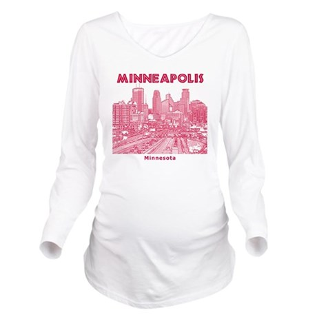 Minneaplis_12X12_Dow Long Sleeve Maternity T-Shirt