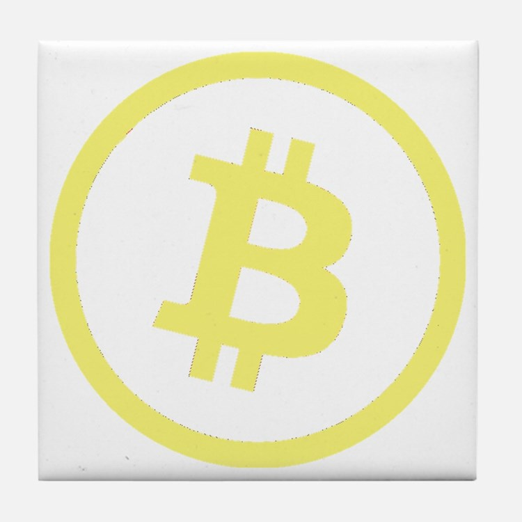 Bitcoin Logo Yellow 1000 Tile Coaster
