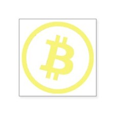 "Bitcoin Logo Yellow 1000 Square Sticker 3"" x 3"""