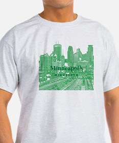 Minneapolis_10X10_v1_Downtown_Green T-Shirt