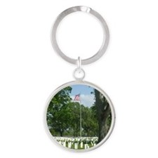 Cost of Freedom Round Keychain