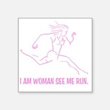 "I am woman Square Sticker 3"" x 3"""