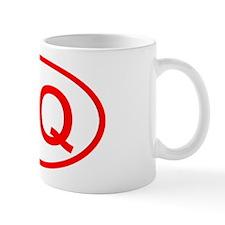 DQ Oval (Red) Mug
