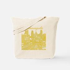 Minneapolis_10x10_Downtown_Yellow Tote Bag