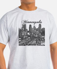 Minneapolis_10x10_Downtown_Black T-Shirt