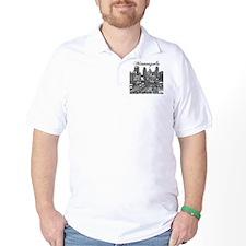 Minneapolis_10x10_Downtown_Black T-Shirt