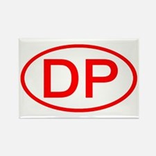 DP Oval (Red) Rectangle Magnet