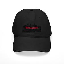 Minneapolis_17X9_Downtown_BlackRed Baseball Hat