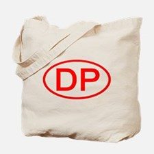DP Oval (Red) Tote Bag