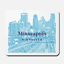 Minneapolis_10X10_v1_Downtown_Blue Mousepad