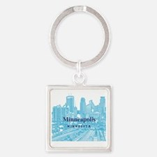Minneapolis_10X10_v1_Downtown_Blue Square Keychain