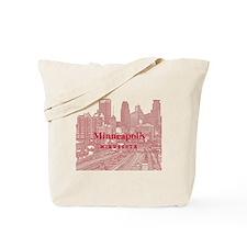 Minneapolis_10X10_v1_Downtown_Brown Tote Bag