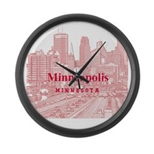 Minneapolis_10X10_v1_Downtown_Bro Large Wall Clock