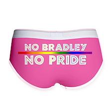 no brad no pride white color Women's Boy Brief