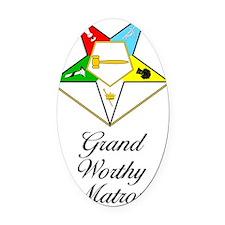 Grand Worthy Matron Journal Oval Car Magnet
