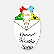 Grand Worthy Matron Journal Oval Car Magnet