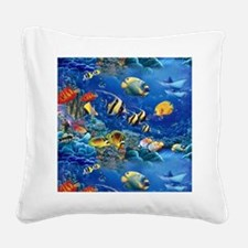 Tropical Fish Square Canvas Pillow
