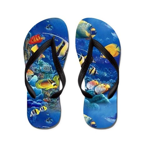 Tropical fish flip flops by admin cp8215891 for Fish flip flops