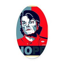 Dianne Feinstein Hope Design Oval Car Magnet
