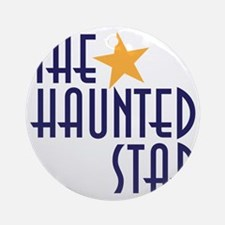 haunted star Round Ornament