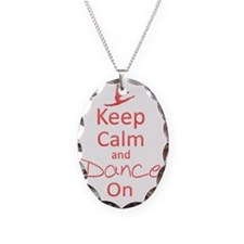 Keep Calm  Dance On Necklace