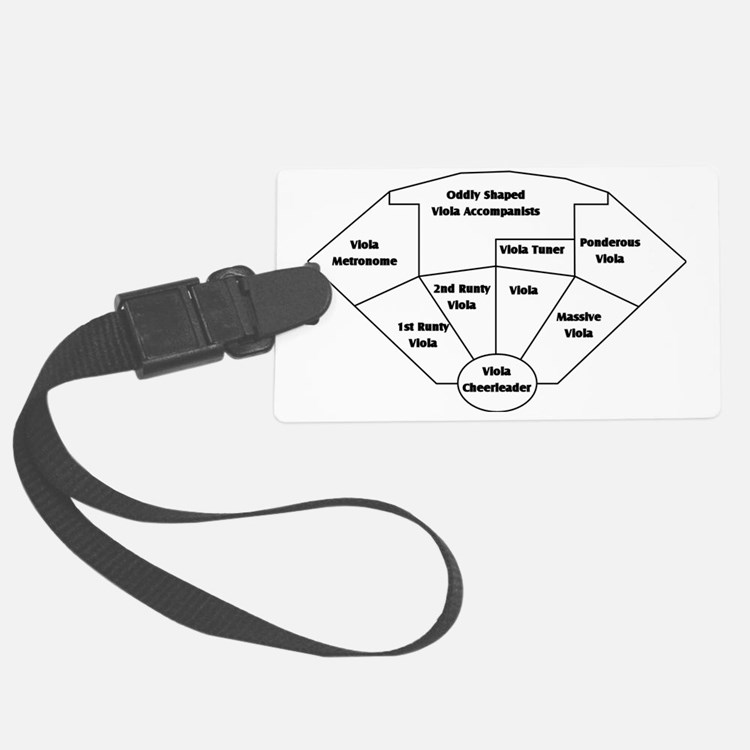 The Violist's Orchestra Large Luggage Tag