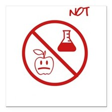 "Not Grown In A Lab Square Car Magnet 3"" x 3"""