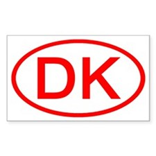 DK Oval (Red) Rectangle Decal