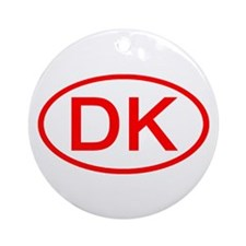 DK Oval (Red) Ornament (Round)
