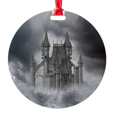 dc_box_tile_coaster_hell Round Ornament