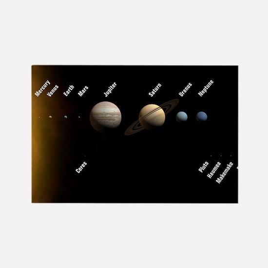 Solar System Rectangle Magnet