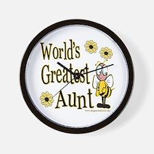 Aunt Bumble Bee Wall Clock