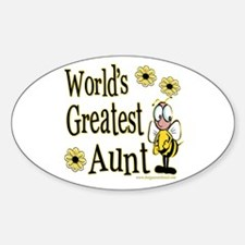 Aunt Bumble Bee Oval Decal