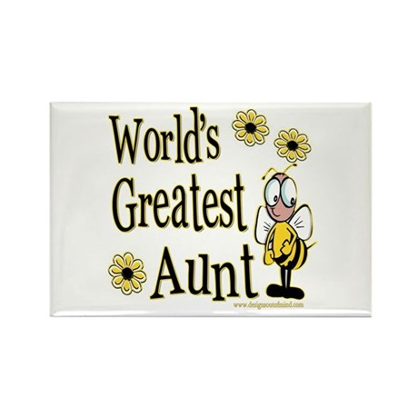 Aunt Bumble Bee Rectangle Magnet