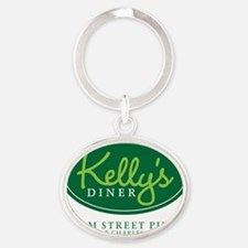 Kellys Diner Oval Keychain