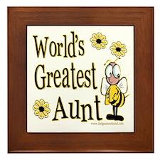 Aunt Bumble Bee Framed Tile
